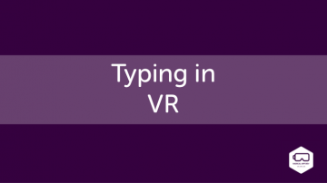 Typing in VR
