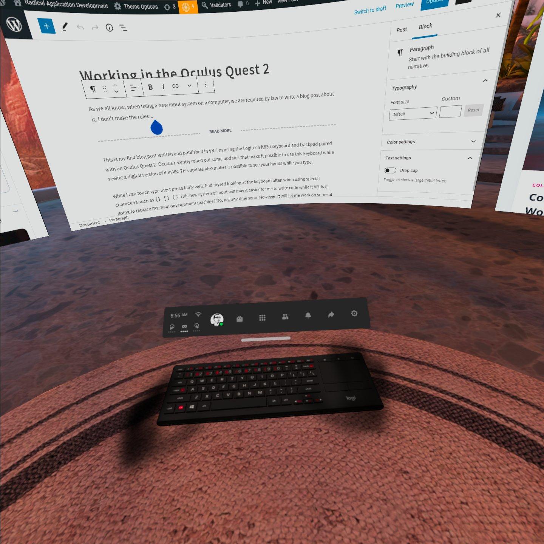 A digital version of a hardware keyboard.